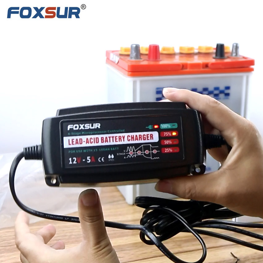 24V 2A 4-stage smart Lead Acid Battery Charger,Desulfator,100-240V input,waterproof Golf Trolley Toy SLA Sealed pulse charger