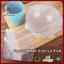 Wholesale transparent food grade silicone stretch fresh cling film