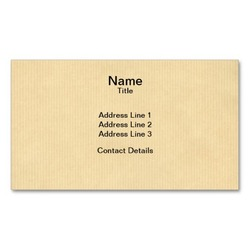 Custom recycled printed kraft paper business card