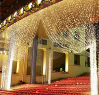 STL 300 LED Home Outdoor Holiday light 3M x 3M Christmas Decorative Wedding xmas string light Fairy Curtain Garlands Strip Light