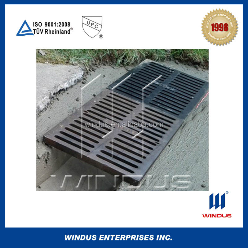 Cast iron trench drain grates