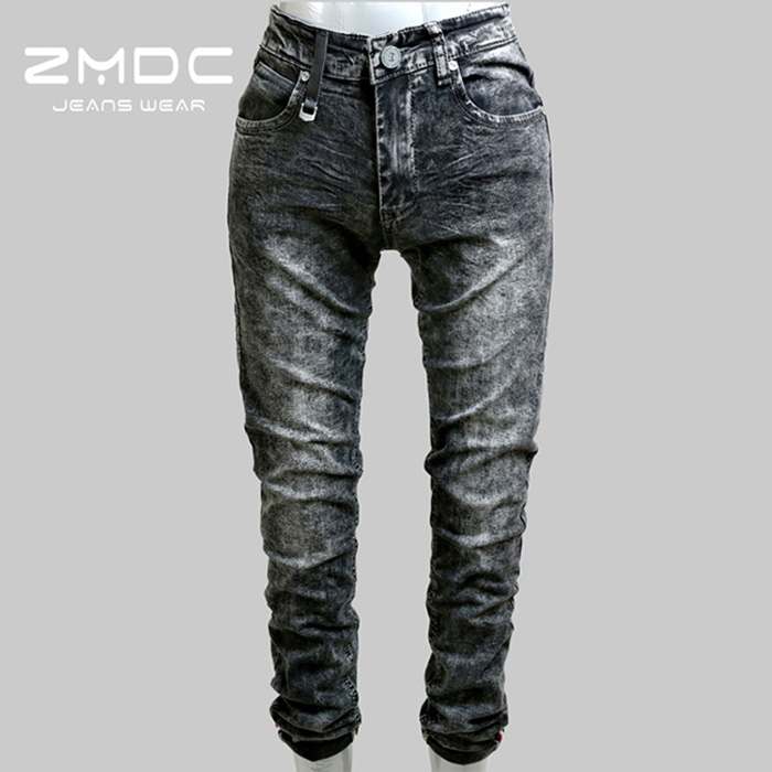 latest fashion hot sale cheap urban thin men raw denim pants tight jeans