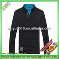 mens cotton long sleeves t-shirt with polo collar