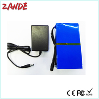 Super Rechargeable 5Ah DC 24v li-ion battery pack with AC Charger for 24v device