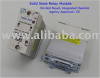 25A Solid State Relay, integrated with slim heatsink,Din-Rail Mount