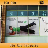 advertising window poster