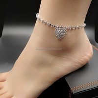 Barefoot Sandal Ankle Chain Hot Heart
