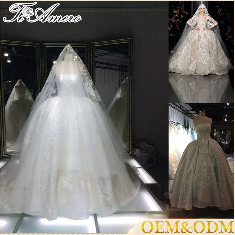 China wholesale latest design women custom made luxury empire waist wedding dress