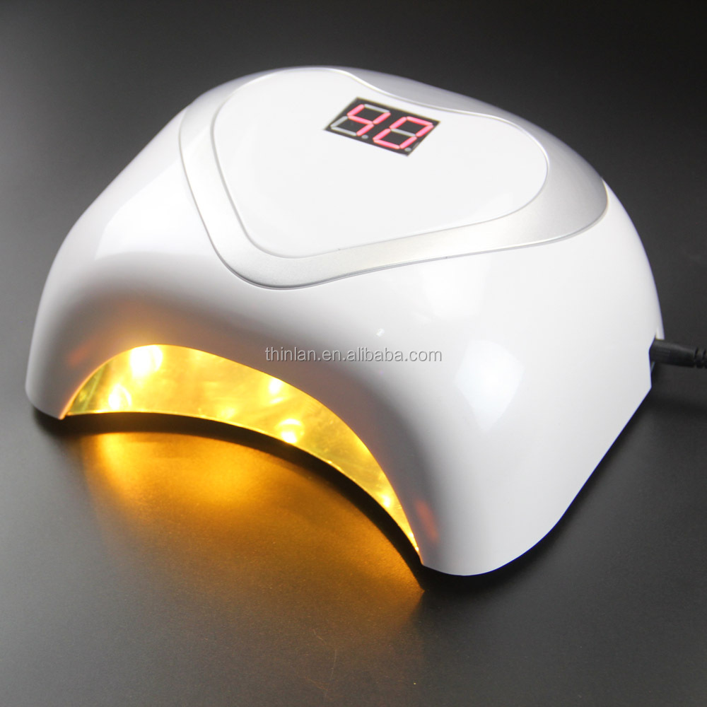 Latest products in China market new 48watts uv led light 24w anti aging led nail lamp sun light 36w led uv gel nail lamp 48w lcd