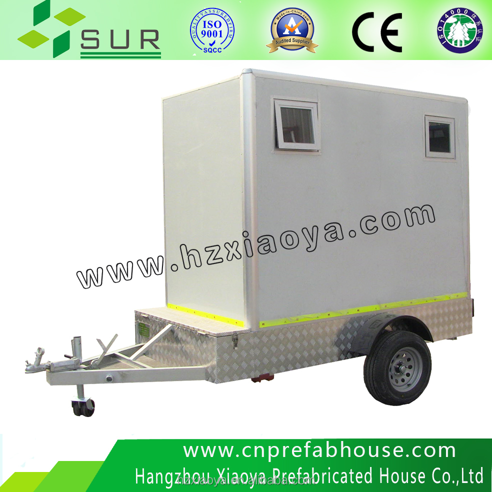 mobile public water cycle portable trailer toilet