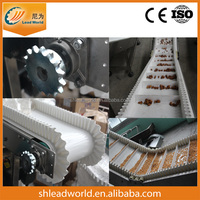 Custom manufacturers, PU white skirt belt corrugated sidewall Industrial conveyor belt, food grade belt conveyor