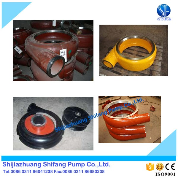 Aftermarket slurry pump parts