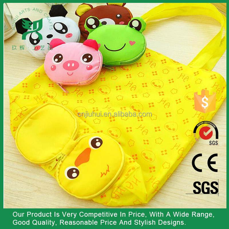 Promotional Animal Shape Nylon Folding Shopping Bag