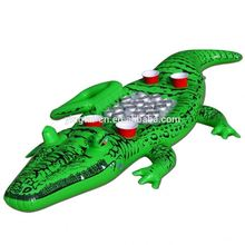 hot sale for the party gator large inflatable floating pool drink ice fan cooler alligator crocodile ice cooler