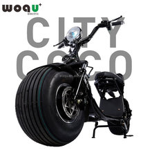 2017 New Product 1200W Motor 72V12ah Battery Citycoco Woqu Adults Off Road Fat Tire Electric Scooter
