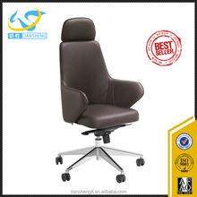 Modern Office chairs / Yellow high back swivel egg shape office leather chair