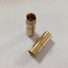 Good choice brass electric cigarette smoking hollow pipes customized cnc machining parts OEM service