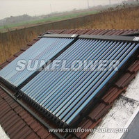 Gravity solar hot water heater