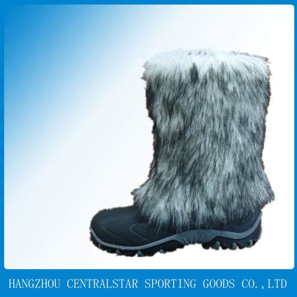 2014 cheap sexy fashion hairy ladies winter womens boots