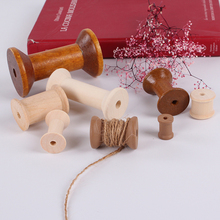 wooden bobbin custom small wooden bobbin natural mini wood bobbin