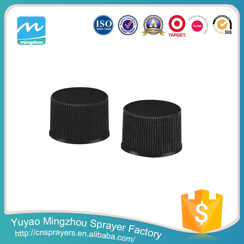 Top Quality Exporter Supplier The Best Price Ribbed Black Plastic Screw Cap For Bottles