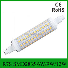 Best selling R7S LED lamp SMD2835 6W 78mm 9W 118mm 12W 135mm 220V-240V LED R7S light bulb