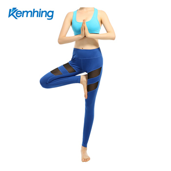 Compression Tights With Mesh high waist Yoga Fitness Leggings Pants women sports fitness yoga pants