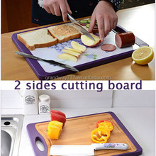 Dobule-Sided Cutting Board/Two Sides Bamboo Cutting Board/Two Faces PP Cutting Board