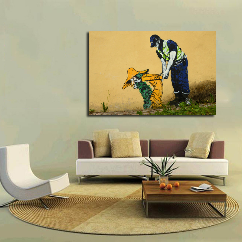 Modern Graffiti Decoration Wall Art Picture Canvas Painting Police ...