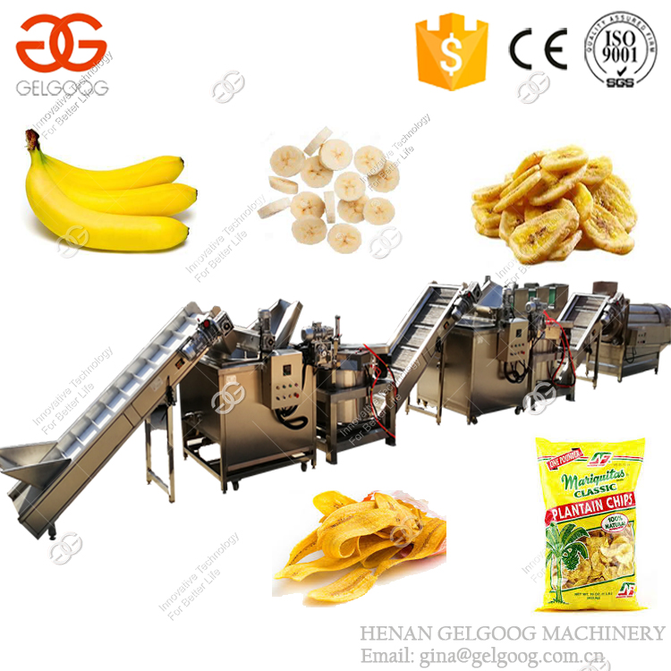 Fully Automatic Banana Processing Plant Philippine Plantain Chips Production Line Banana Chips Making Machines