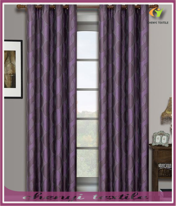 Jacquard Grommet Window Treatment Curtain Panels
