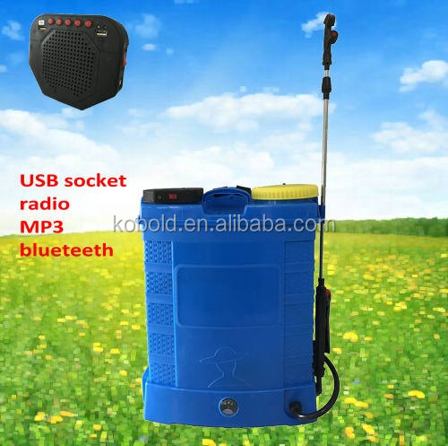 kobold 16L 12V battery powered sprayer with USB socket for mobile phone charger