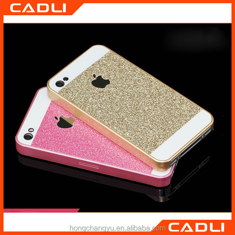 For Apple iphone 5 5se Simple Mobile Phone Case Glitter Bling Hard PC Material Case Cover Back