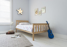 pine wood popular simple single bed design in woods