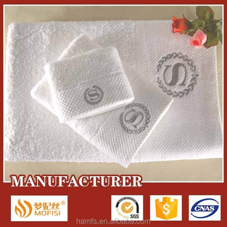 Custom towels bath set 100 % cotton towel from China Direct Factory