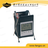 Digital Alarm Collapsible Penholder Clock with Thermometer and Calendar