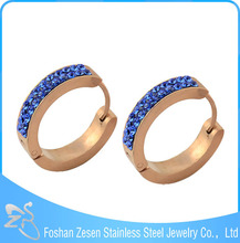 Wholesale bulk 316L Stainless Steel crystal jewelry Charms Hoop Earrings