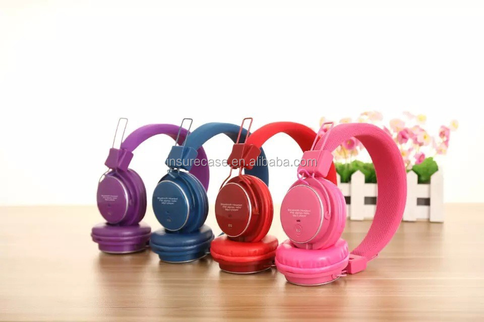 Wireless Foldable Stereo FM Radio Bluetooth Headset headphone ,Support FM Radio TF card bluetooth headset
