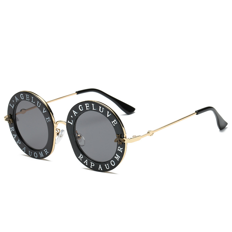 New Arrival Fashion Polygon Transparent Mirror Shades Sunglasses For Woman