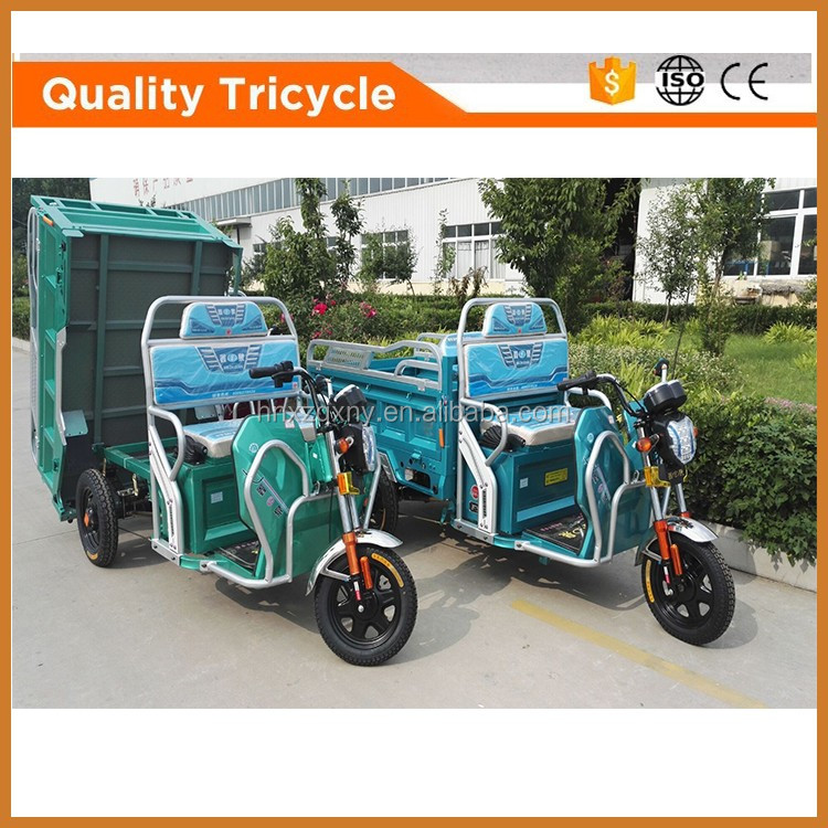 hydraulic dumping electric cargo tricycle china