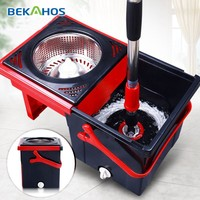 Bekahos new style 360 degree cleaning spin tornado mop without foot pedal