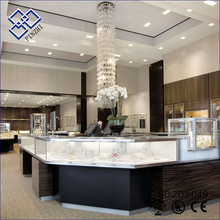 Discount Price trade show displays gold cabinet glass counter top jewelry display tables showcase