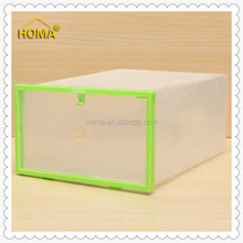 Newest clear plastic shoe box for packing