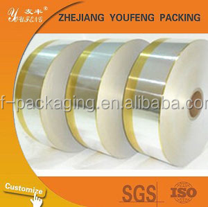 silver&golden 35gsm paper, 6.5mic aluminum foil paper for packing
