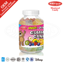 5057 Bear Shape Halal Wholesale Gummy Vitamins Candy With Sour Coated