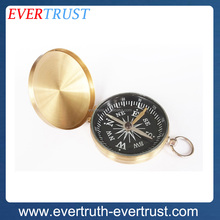 promotional antique custom gold compass brass compass for hiking