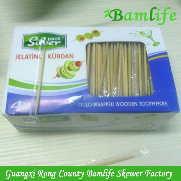 Quality stylish wood toothpick for sale