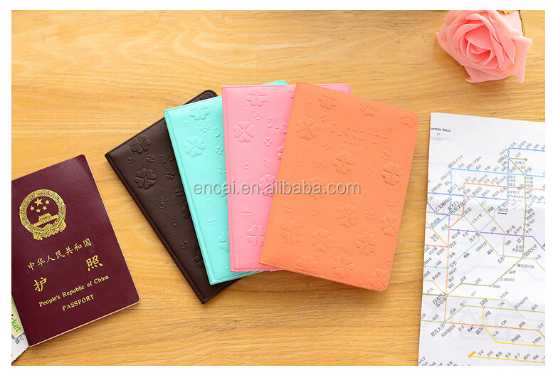 Encai New Design Travel Passport Case Colourful Passport Holder Cheap Passport Cover