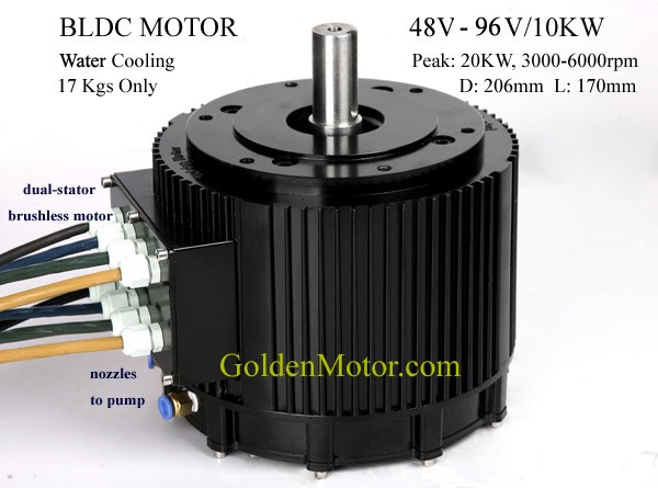10KW BLDC EV motor / Electric car motor