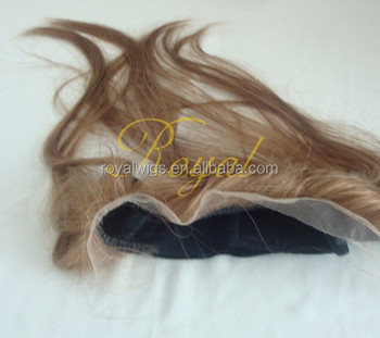 Natural Looking 100% Brazilian Human Hair Lace Front Wig Grips